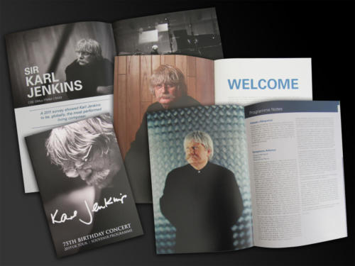 Karl Jenkins 75th Birthday Concerts - 2019 tour brochure