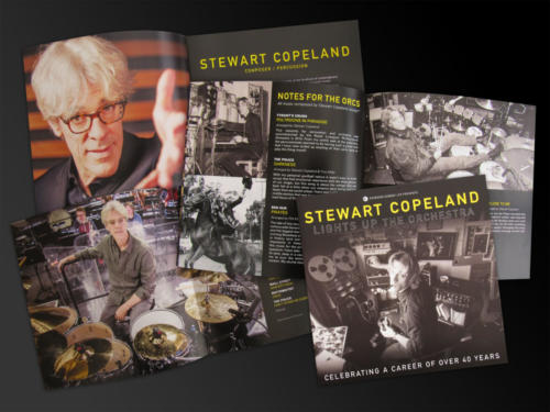 Stewart Copeland Lights Up The Orchestra - 2019 tour brochure